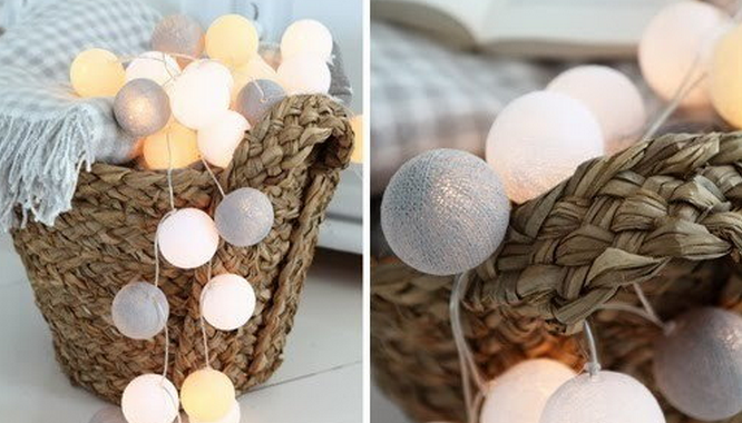 lampki ozdobne cotton ball lights canoe green
