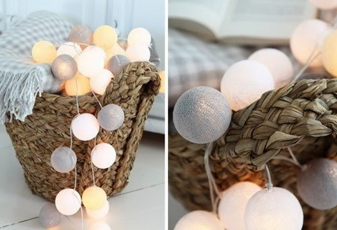 Lampki Cotton Ball Lights jasne