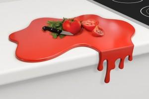 Krwawa deska do krojenia Splash od Mustard