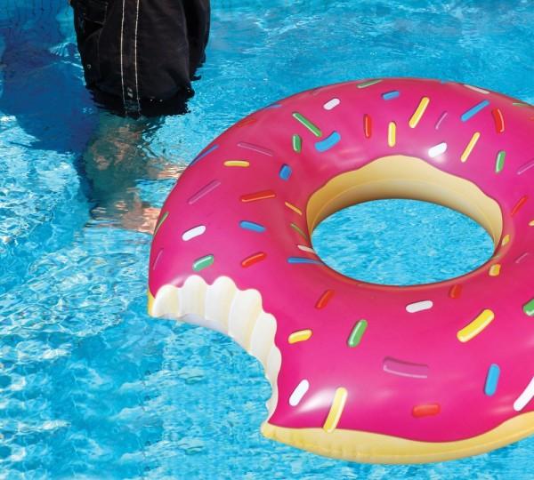 Dmuchane koło nadgryziony donut