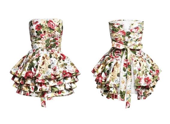 Piękny fartuch sukienka Lukrecja marki COOKie