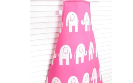 fartuszek dziecięcy różowe słonie