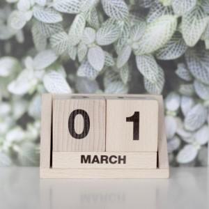 Kalendarz drewniane klocki od Ekodizajn