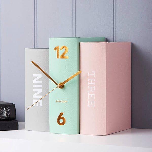 Pastelowy zegar książki Karlsson