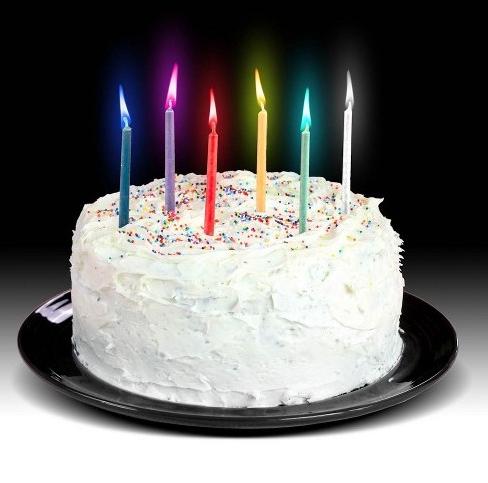 Urodzinowe świeczki z kolorowym płomieniem