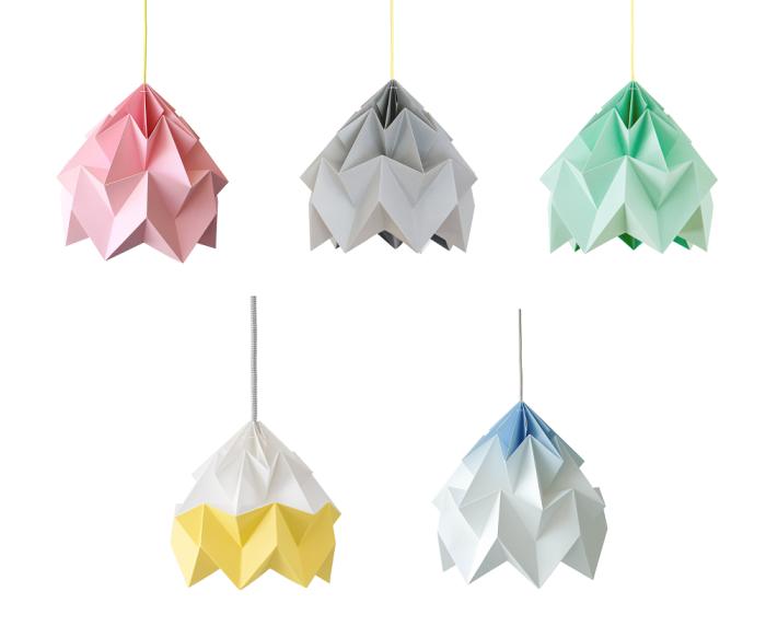 lampa moth różne kolory