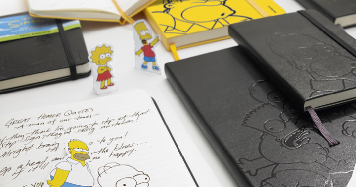 notes moleskine the simpsons