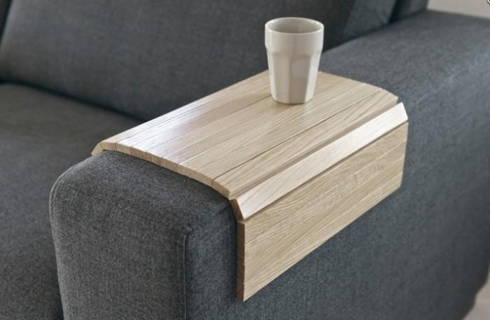 Drewniany podłokietnik na sofę WOOOD
