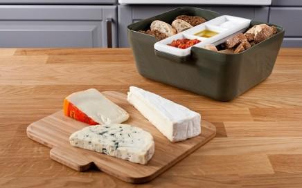 pojemnik na pieczywo z miejscem na sos i tacą vacu vin