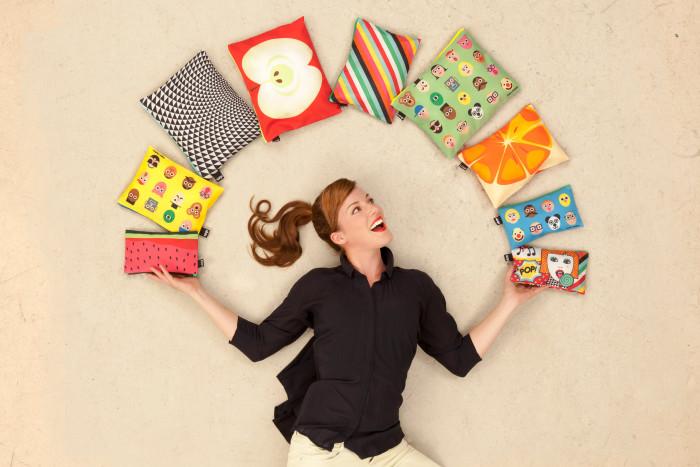 Kolorowe saszetki na drobiazgi Zip Pocket firmy Loqi