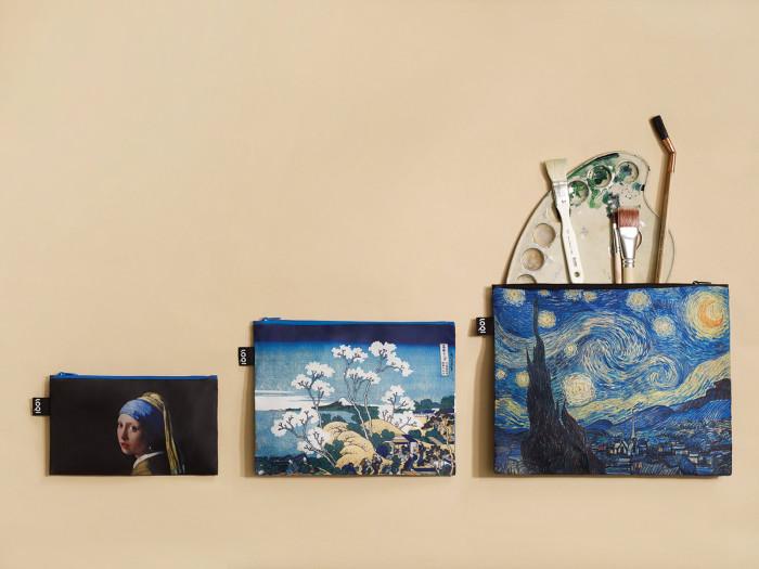 Saszetki na drobiazgi Museum Zip Pockets marki Loqi