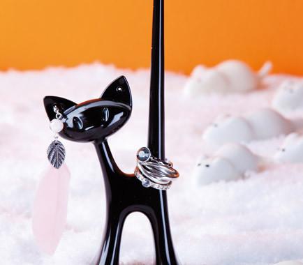 stojak na biżuterię kot
