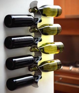 stojak na wino fala