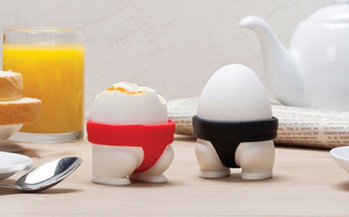 Kieliszki do jajek sumo od Peleg Design