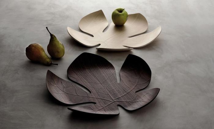 Dekoracyjna taca liść klonowy Adamo firmy Legnoart