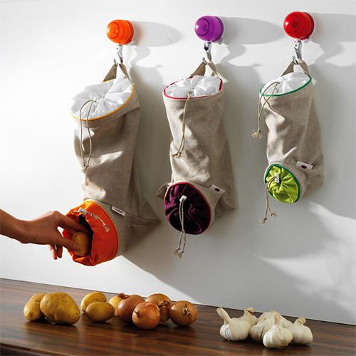 Bawełniana torba do przechowywania czosnku firmy Mastrad