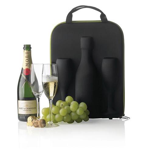 torba na szampana i kieliszki