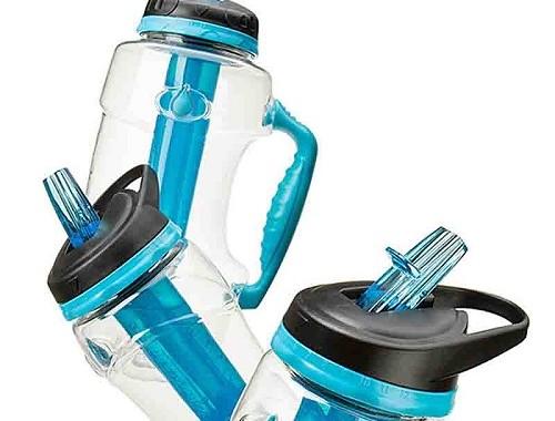 butelka z filterem i wkłądem chłodzącym