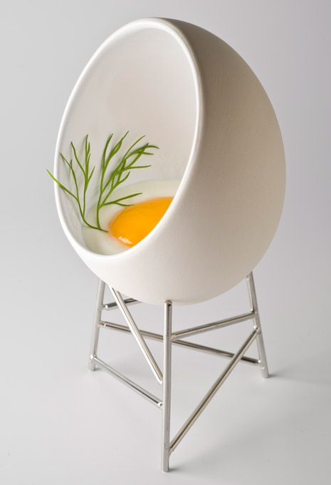Koszyczek do gotowania i serwowania jajek gniazdo od Alessi