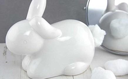 ceramiczny królik na waciki
