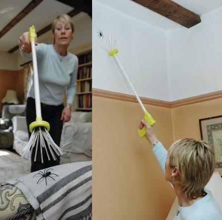 Przyrząd do łapania pająków na odległość
