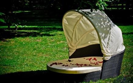 leżanka kosz z daszkiem Bello Giardino