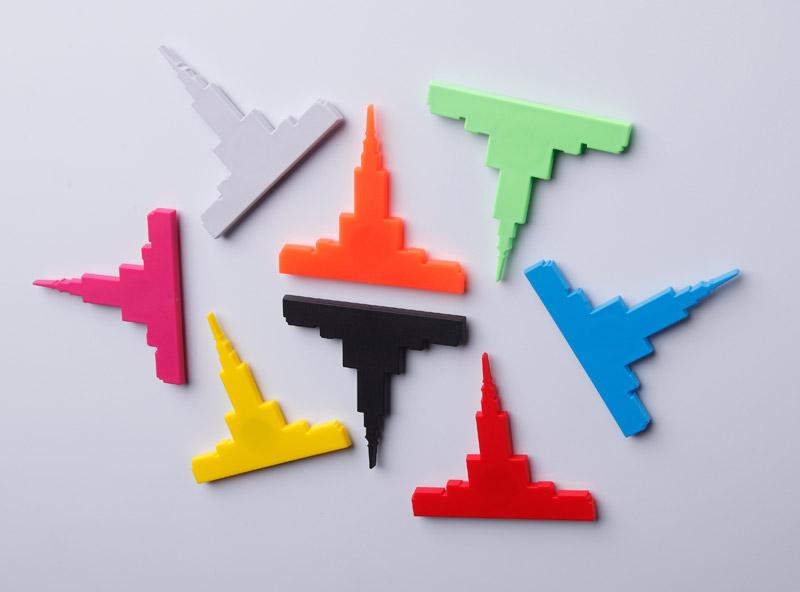 Minimalistyczny magnes Pałac Kultury marki Robert Szuba Design