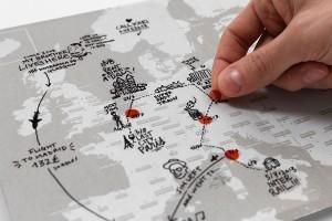 Mapa dziennik podróży po świecie marki Palomar