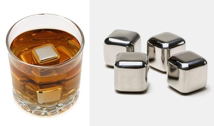 Metalowe chłodzące kostki do drinków