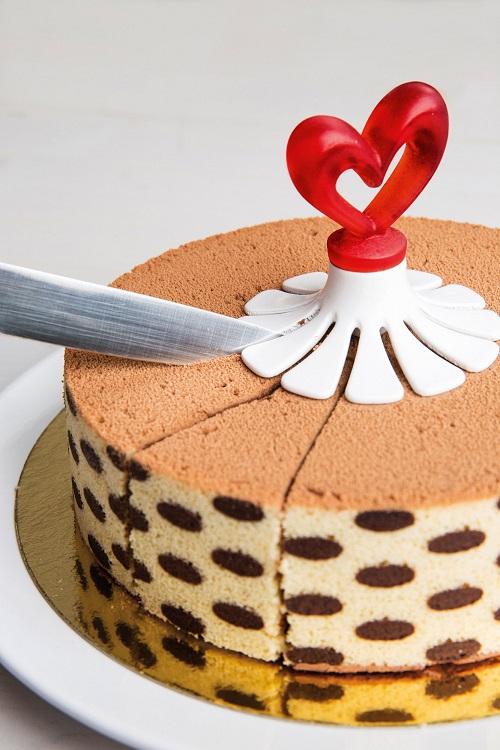 narzędzie do porcjowania ciasta serce koziol
