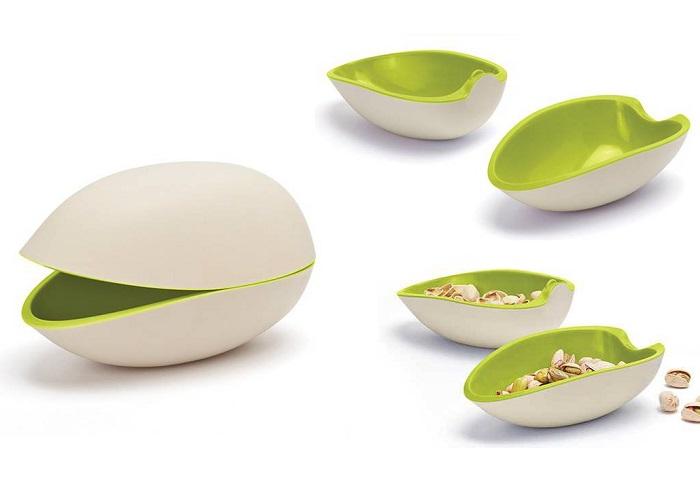 Podwójna miseczka na przekąski pistacja
