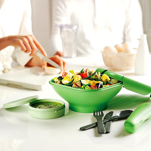 pojemnik na salatke z miejscem na sos aladdin