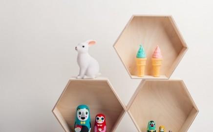 półka plaster miodu tralala studio