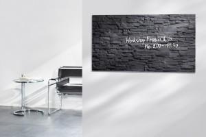 Szklana tablica magnetyczna czarna cegła marki Sigel