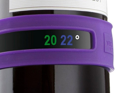 silikonowy termometr do wina Vacu vin