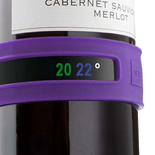 Silikonowa opaska z termometrem do wina marki Vacu Vin