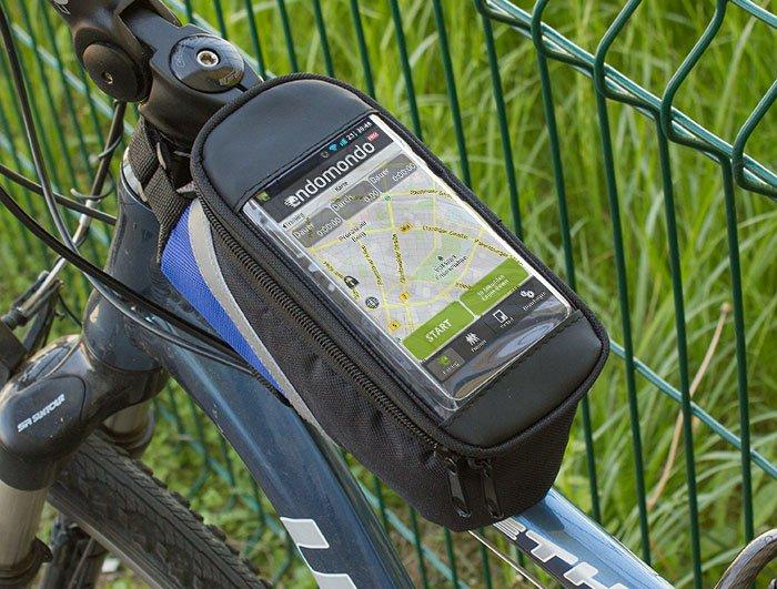Wodoodporny rowerowy pokrowiec na telefon z torbą na drobiazgi