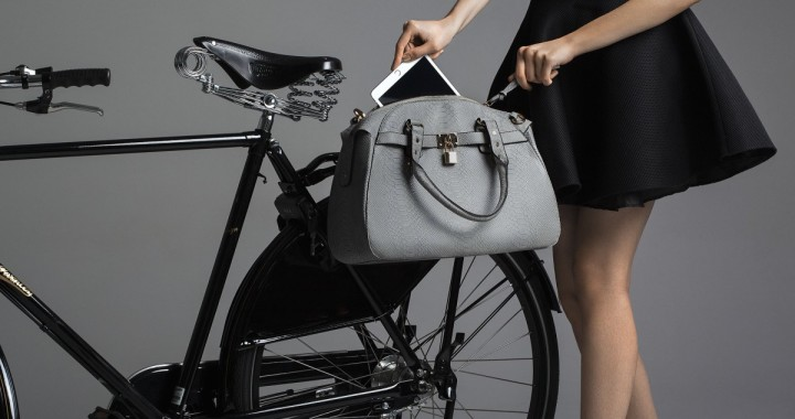 rowerowa torba szara na bagażnik mme velo