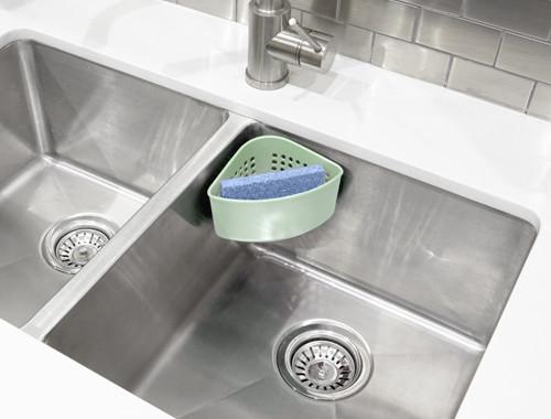 Narożny pojemnik na gąbkę do mycia naczyń Umbra
