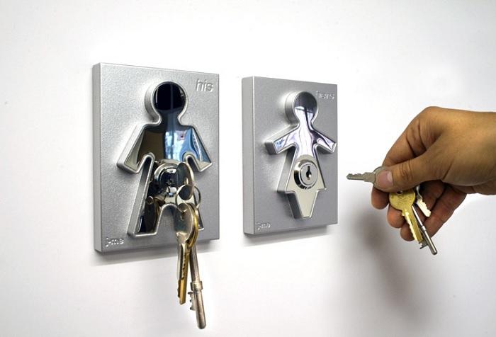Wieszak na klucze dla pary Pan i Pani firmy J-me