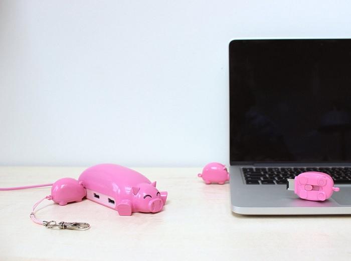 Hub świnka i pamięci USB prosiaczki