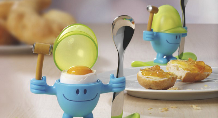 uśmiechnięty kieliszek na jajko z młoteczkiem WMF
