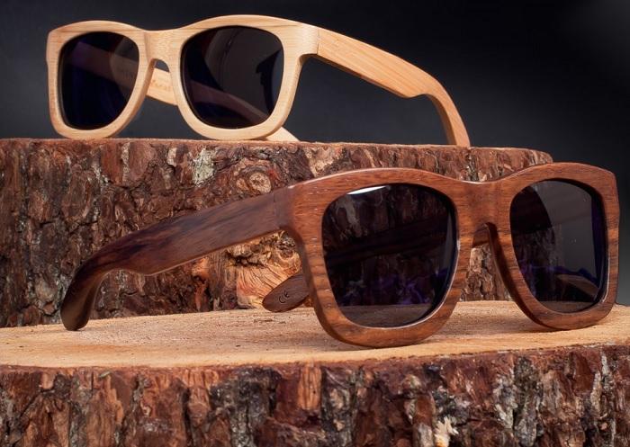Okulary z drewnianą oprawką od Slimmer