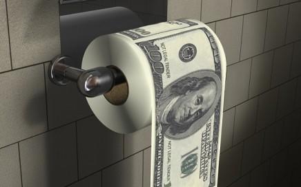 papier toaletowy 100 dolarów