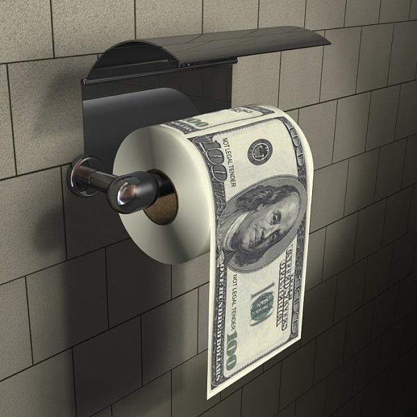 Papier toaletowy w studolarówki Dollar Roll od ThumbsUp