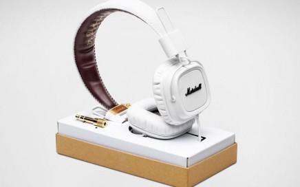 Stylowe słuchawki białe Marshall