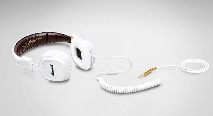 słuchawki marshall biale