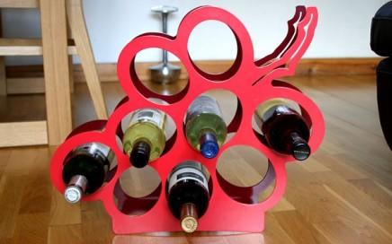 Stojak na wino wuinogrono J-me