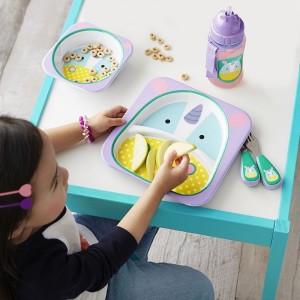 Dziecięcy dwudzielny talerz jednorożec z serii ZOO marki Skip Hop