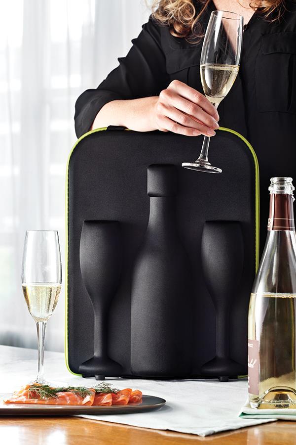 Sztywna torba na szampana i kieliszki XD Design
